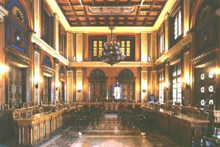 L'aula del consiglio metropolitano