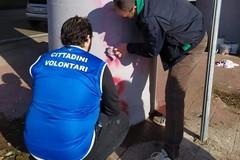 Scritte vandaliche offensive, Retake Modugno provvede a rimuoverle