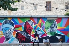 Modugno, un murale per Don Tonino Bello, Samia e M.L. King