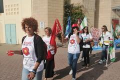 I dipendenti Auchan in sciopero a Modugno