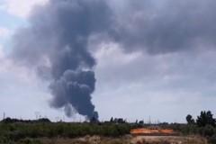 Incendio alla EcoGreen Planet sulla Modugno-Palo, indagini in corso