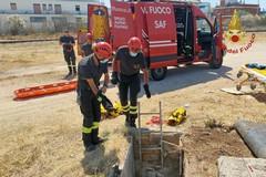 Modugno, operaio cade in un pozzo. Salvato dai vigili del fuoco