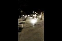 La pulizia delle strade iniziata ieri notte a Modugno