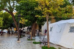 Emergenza Covid a Modugno, torna la tenda della Protezione Civile in posta