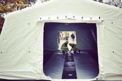 Modugno, tenda della Protezione Civile per agevolare l'accesso in posta