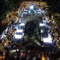 """Modugno, il Parco San Pio si illumina di sera: grande successo per la """"Cena in Bianco"""""""