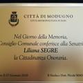 """Modugno conferisce la cittadinanza onoraria a Liliana Segre:  """"La democrazia non va violata """""""