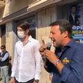 Matteo Salvini in piazza a Modugno: «Unica scelta di centrodestra è la Lega»
