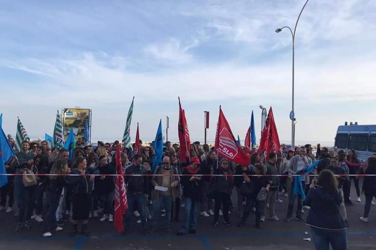 La manifestazione. <span>Foto Facebook Cgil Bari</span>