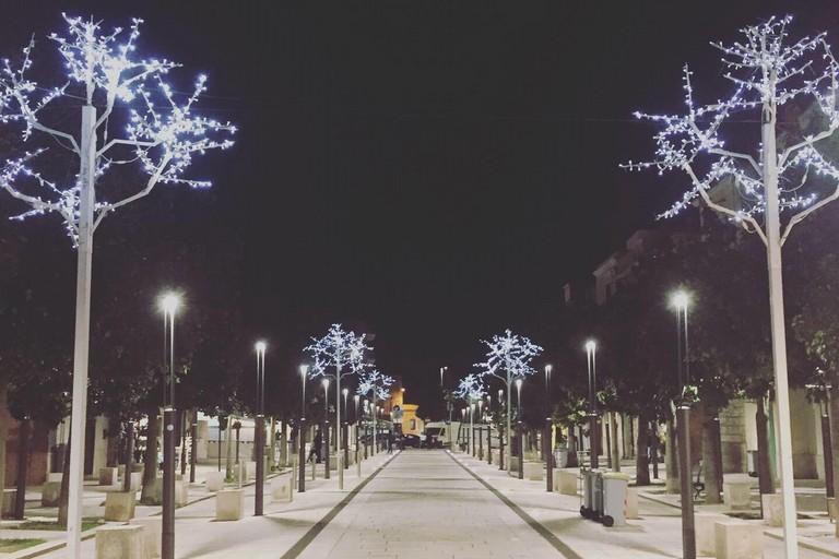 Le luminarie di Natale a Modugno