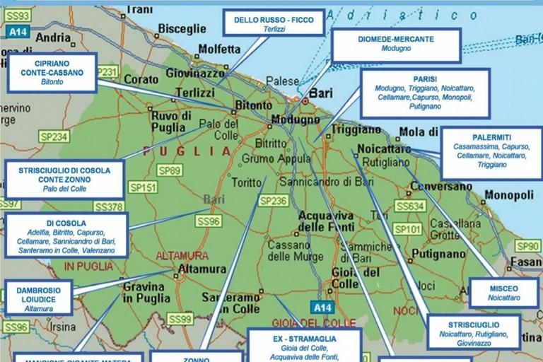 I clan in provincia di Bari