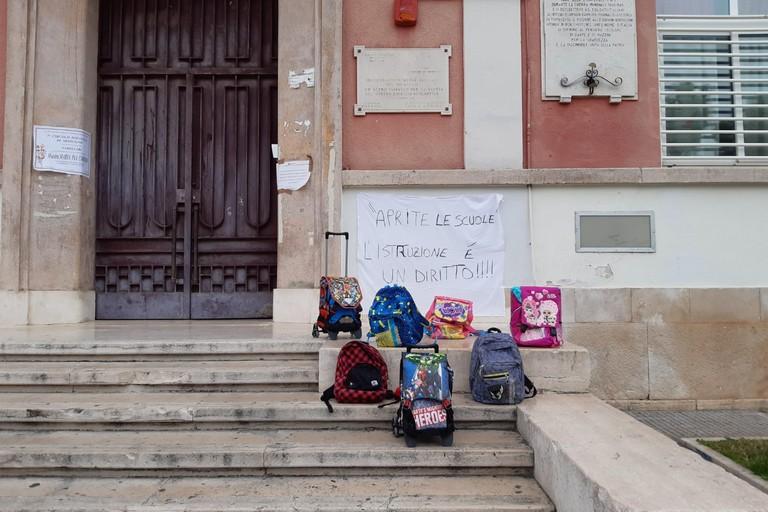La manifestazione a scuola