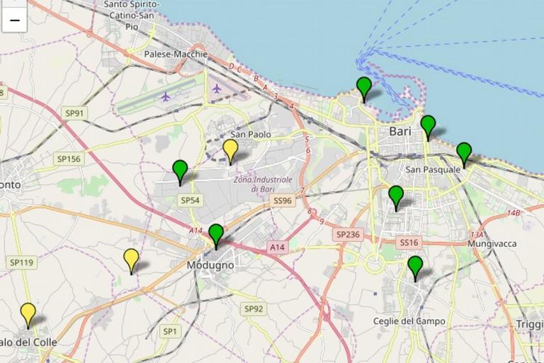 La qualit dellaria nella zona di Bari e limitrofi