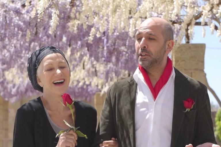 Zalone con Helen Mirren